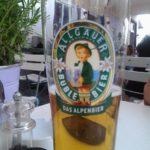 Product Placement Allgäuer Bier im Glas