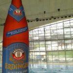 Product Placement Erdinger alkoholfrei in der Olympia Schwimmhalle.