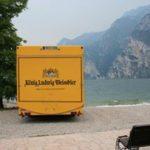 Product Placement König Ludiwig Bierwagen am Gardasee.