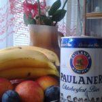 Product Placement Paulaner Dosenbier im, Stilllebe.