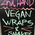 Kundenstopper vegane Wraps und Shakes