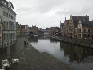 At Work in Gent, Belgien.