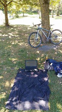 SEO Freelancer at work direkt am Feringasee.