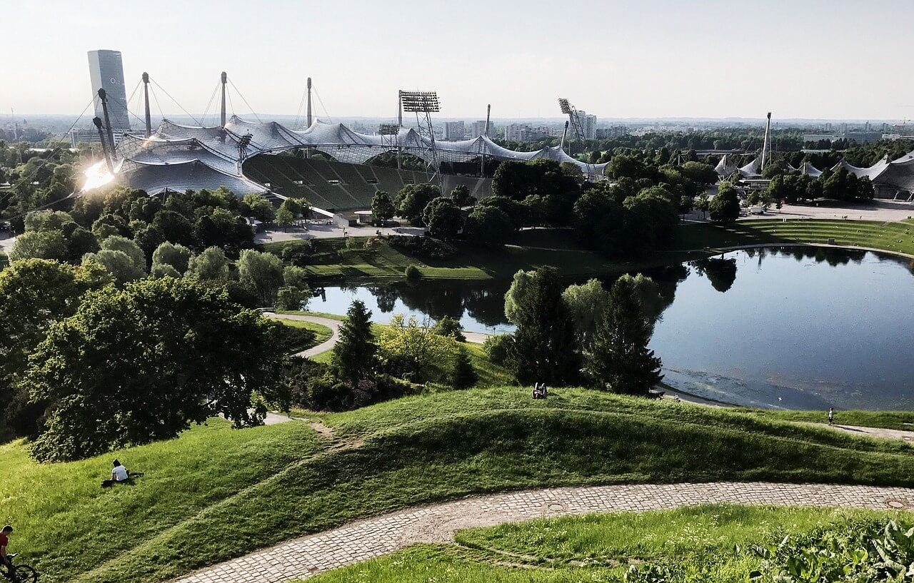 Freizeit im Münchner Olympiapark