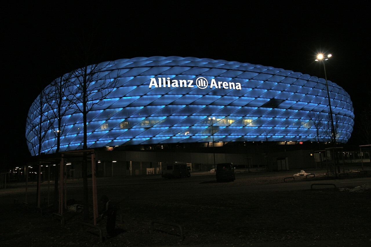 Freizeit in München. Viele Attraktionen bietet auch die Allianz Arena