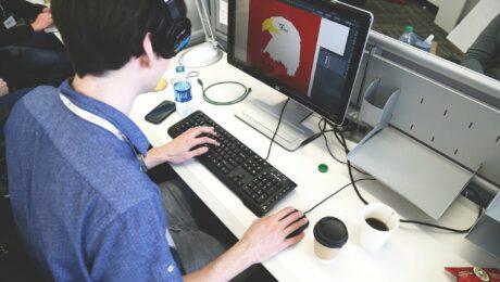 Home Office mimt einem Remote Desktop