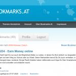 Backlinks auf Social Bookmarks auf bookmarks.at erstellen